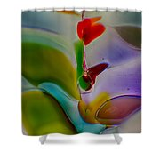 Wind Flower Shower Curtain