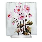 Wind Flowers Shower Curtain