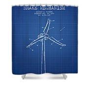 Wind Generator Break Mechanism Patent From 1990 - Blueprint Shower Curtain