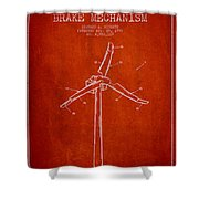 Wind Generator Break Mechanism Patent From 1990 - Red Shower Curtain
