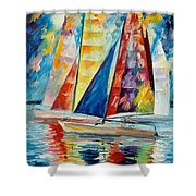 Wind In Sails Shower Curtain