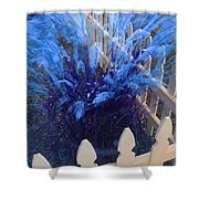 Wind In The Grass - Blue Shower Curtain
