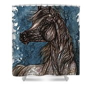 Wind In The Mane Shower Curtain