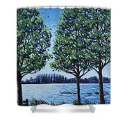 Wind In The Trees Shower Curtain