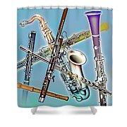 Wind Instruments Shower Curtain