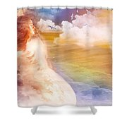 Wind Of His Glory Shower Curtain by Jennifer Page