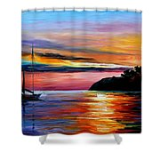 Wind Of Hope - Palette Knife Oil Painting On Canvas By Leonid Afremov Shower Curtain