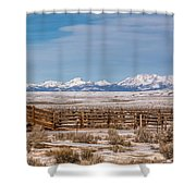 Wind Rivers Shower Curtain