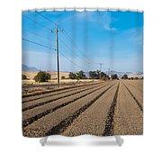 Wind Rows Farm Shower Curtain