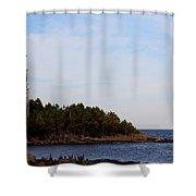 Wind Sculpted Coast Shower Curtain