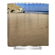 Wind Signals At The Beach Shower Curtain