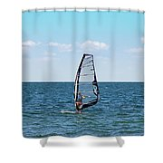 Wind Surfer Shower Curtain