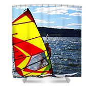 Wind Surfer II Shower Curtain