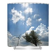 Wind Turbine  Shower Curtain