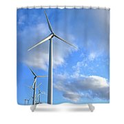 Wind Turbine Farm Shower Curtain