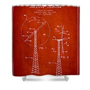 Wind Turbine Rotor Blade Patent From 1995 - Red Shower Curtain
