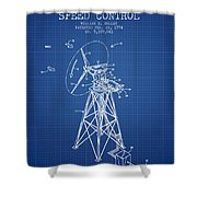 Wind Turbine Speed Control Patent From 1994 - Blueprint Shower Curtain