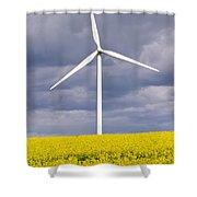 Wind Turbine With Rapeseed Shower Curtain