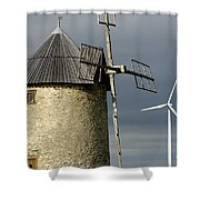 Wind Turbines And Windfarm Shower Curtain