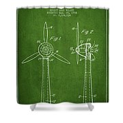 Wind Turbines Patent From 1984 - Green Shower Curtain