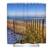 Wind Whipped Shower Curtain