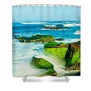 Windansea Beach 4 Shower Curtain