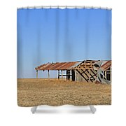 Windblown Barn Shower Curtain