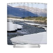 Winding River Shower Curtain