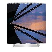 Windjammer Schooner Appledore Bobstays In Abstract Shower Curtain
