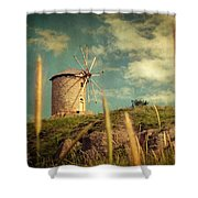 Windmill 14 48 Shower Curtain by Taylan Apukovska