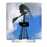 Windmill And Sky Shower Curtain