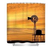 Windmill At Dawn 2008 Shower Curtain