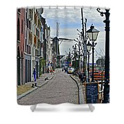 Windmill At The End Of The Street Shower Curtain