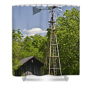 Windmill - Cedar Hill State Park Shower Curtain