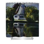 Windmill In The Willows Shower Curtain