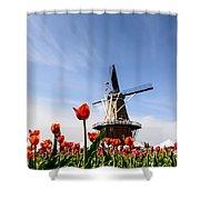 Windmill Island Gardens Shower Curtain