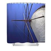 Windmill Masts Shower Curtain