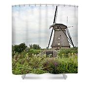 Windmill Of Kinderdijk Shower Curtain