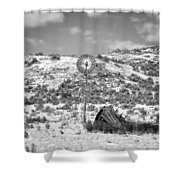 Windmill On A Hill Shower Curtain