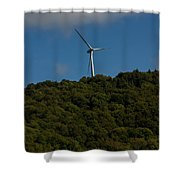 Windmill On A Mountain Shower Curtain