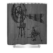 Windmill Patent Barn Wall Shower Curtain