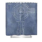 Windmill Patent Shower Curtain