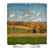 Windmills On The Horizon Shower Curtain