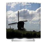 Windmills Silhouette Shower Curtain