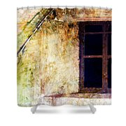 Window - Water Color - Fort Shower Curtain