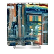 Window Abstract Shower Curtain