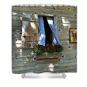 Window And Flowerbox Shower Curtain