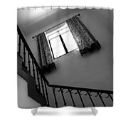 Window And Stairs Shower Curtain