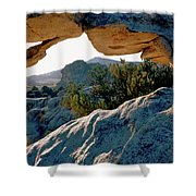Window Arch City Of Rocks Idaho Shower Curtain