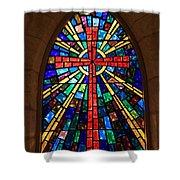 Window At The Little Church In La Villita Shower Curtain